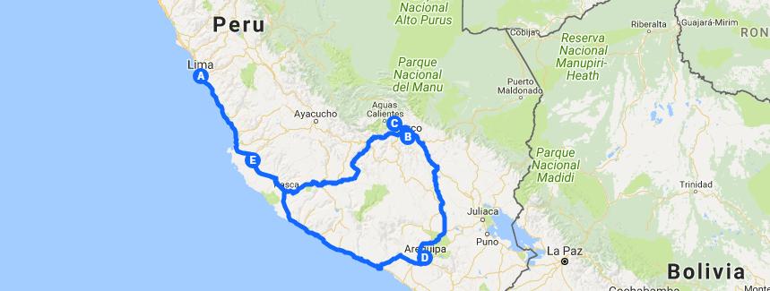 Route - Peru